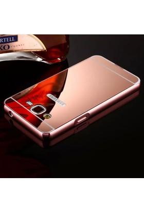 Gpack Samsung Galaxy On7 Kılıf Aynalı Metal Bumper + Cam
