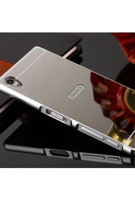 Gpack Sony Xperia Z5 Premium Kılıf Aynalı Metal Bumper