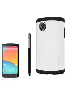 Gpack Lg Nexus 5 Kılıf Slim Case Armor Kapak +Kalem+ Cam