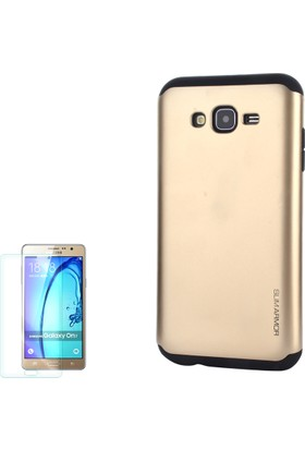 Gpack Samsung Galaxy On7 Kılıf Slim Case Armor + Cam