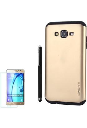 Gpack Samsung Galaxy On7 Kılıf Slim Case Armor +Kalem+ Cam