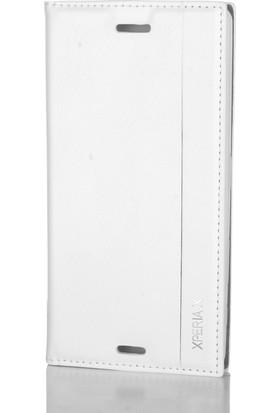 Gpack Sony Xperia X Kılıf Düz Deri Kapaklı Milano