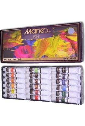Maries 18 Renk Akrilik Boya 818B
