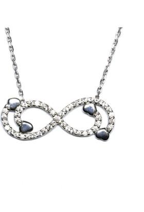 A Favor Zirkon taşlı Gümüş Bayan Kolyesi-Sonsuzluk