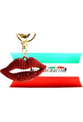 Simoni Racing Bocca Rossa - Kırmızı Dudak Özel Anahtarlık Smn102818
