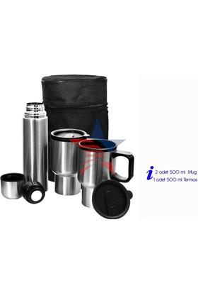 Modacar 2 Çelik Mug + 500 Ml Termos Set 33A082