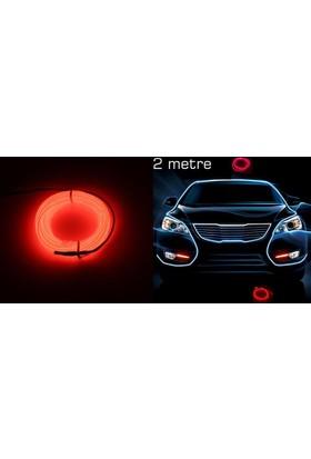 Modacar Kırmızı Tube Neon Kablo 2 Metre 378816