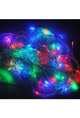 Pandoli Beyaz Kablolu 100 Ampüllü Led Işık Karışık Renk 10 Metre