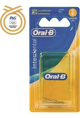 Oral-B Arayüz Fırçası Yedeği Düz (6 Adet)