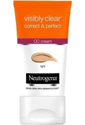 Neutrogena Visibly Clear Correct & Perfect CC Krem Açık Ton 50 Ml