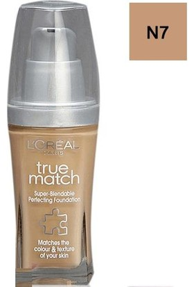 Loreal Paris True Match Fondöten N7 Ambre