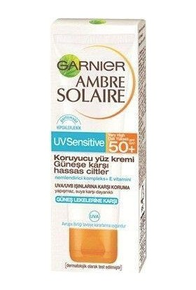 Garnier Ambre Solaire Sensitive Advanced Koruyucu Yüz Kremi GKF50+ 50ML