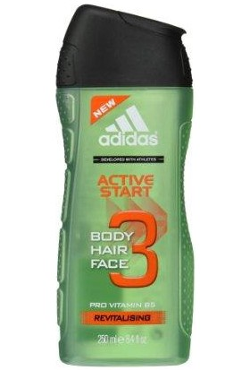 Adidas Duş Jeli King 3in1 Active Start 250 ml.