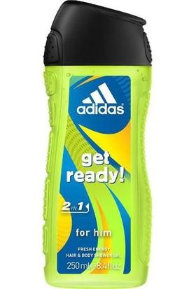 Adidas Duş Jeli King 2in1 Get Ready 250 ml.