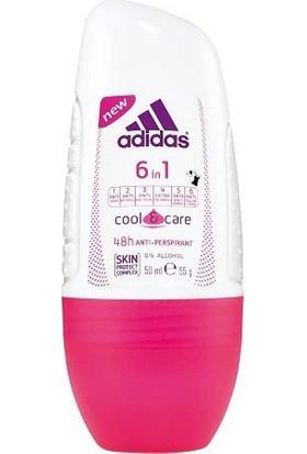 Adidas 6 In 1 Cool & Care Kadın Roll On