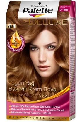 Palette Deluxe 7-65 Altın Parıltılı Toffee Saç Boyası