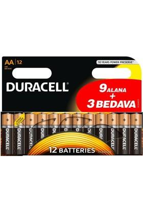 Duracell Alkalin AA Kalem Pil 12'li Paket