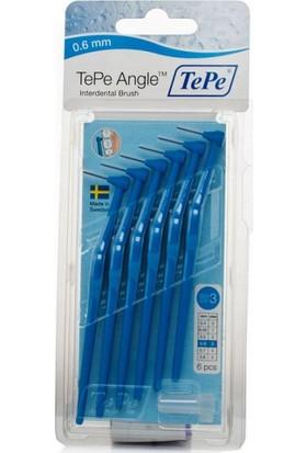 Tepe Angle Saplı Arayüz Fırçası Mavi 0,6 Mm 6 Lı