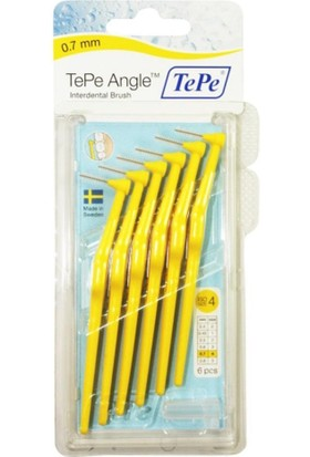 Tepe Angle Saplı Arayüz Fırçası Sarı 0,7 Mm 6 Lı