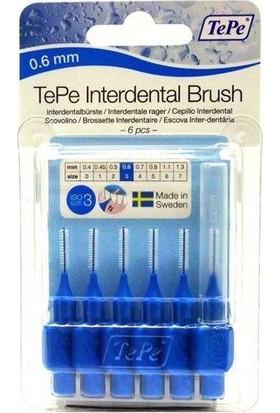 Tepe Blisterli Arayüz Fırçası 6 Lı Mavi