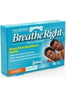Breathe Right Burun Bandı Şeffaf Normal Boy 10'lu