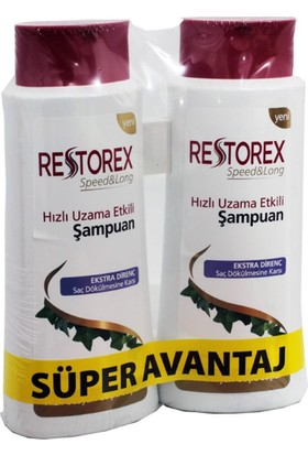 Restorex Şampuan Saç Dökülmesine Karşı 650 Ml X 2Adet