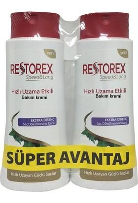 Restorex Saç Kremi Uzatma Etkili Dökülmelere Karşı 350 Ml+350 Ml
