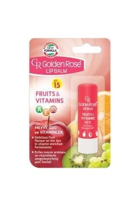 Golden Rose Lip Balm Fruits & Vitamins Spf 15