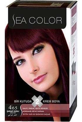 Sea Color 4/65 - Şarap Kızılı Saç Boyası