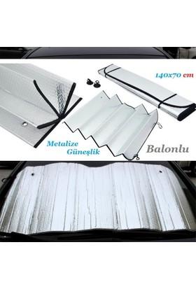 Tvet Güneşlik Ön Cam Metalize Balonlu 140X70 Cm