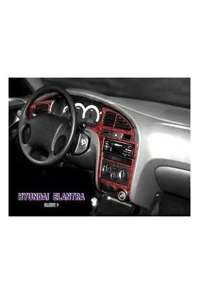 Tvet Hyundai Elantra 2000 2004 8 Parça Torpido Kaplaması Karbon