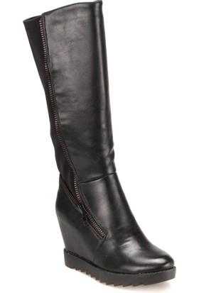 Polaris 52.308050.Z Siyah Kadın Çizme
