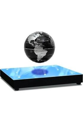 Acayipşeyler Sihirli Dünya Havada Dönen Küre 8 Ledli Levitating Globe Gümüş Siyah
