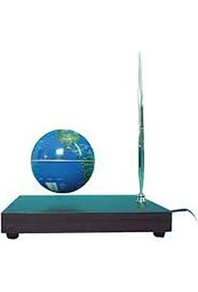 Acayipşeyler Sihirli Dünya Havada Dönen Küre Kalemli Havada Uçan Küre Ahşap Taban - Levitating Globe