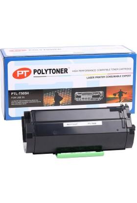 Polytoner Lexmark (T-505H) Toner Ms310/Ms410/Ms510/Ms610/Ms610Dtn/Ms610 5K