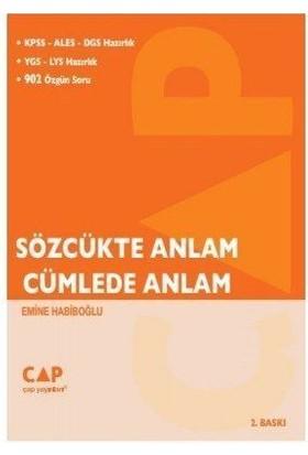 Çap Yayınları Sözcükte Anlam Cümlede Anlam Kpss-Ales-Dgs Hazırlık YGS-LYS Hazırlık