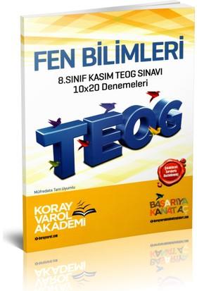 Koray Varol Akademi 8.Sınıf Kasım TEOG Sınavı Fen ve Teknoloji 10x20 Denemeleri 2017