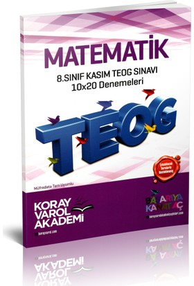 Koray Varol Akademi 8.Sınıf Kasım TEOG Sınavı Matematik 10x20 Denemeleri 2017