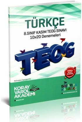 Koray Varol Akademi 8.Sınıf Kasım TEOG Sınavı Türkçe 10x20 Denemeleri 2017