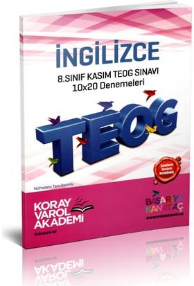 Koray Varol Akademi 8.Sınıf Kasım TEOG Sınavı İngilizce 10x20 Denemeleri 2017