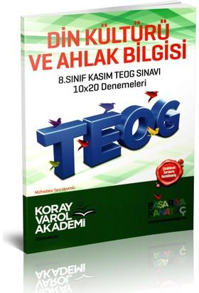 Koray Varol Akademi 8.Sınıf Kasım TEOG Sınavı Din Kültürü ve Ahlak Bilgisi 10x20 Denemeleri
