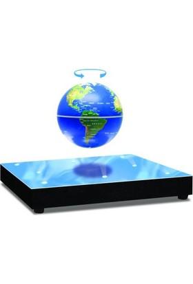 Acayipşeyler Sihirli Dünya Havada Dönen Küre 8 Ledli Levitating Globe Koyu Mavi