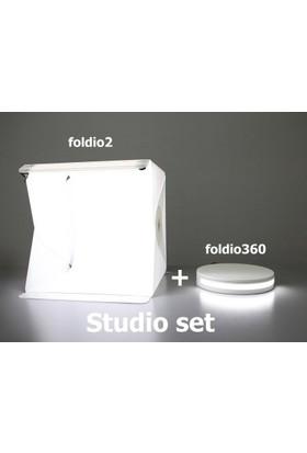 Stüdyo Set (foldio2+foldio360) 360 Derece Ürün Çekimi Fotoğraf stüdyo