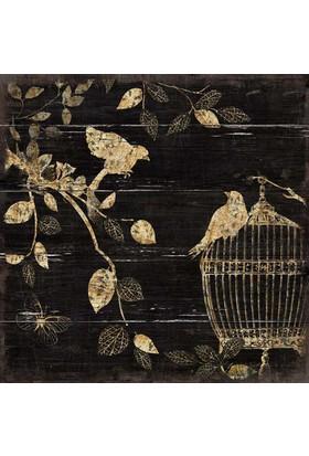 Euro Flora Tablo Kafeste Kuşlar 30X30 Cm