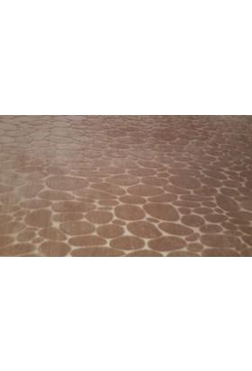 Ladystone Welsoft Lastikli Halı Örtüsü 4m2 (150x233cm) Mozaik Kahve