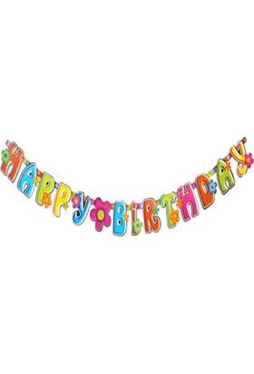 Pandoli Happy Birthday Yazılı Banner Süs