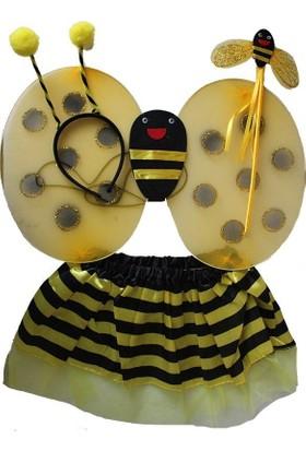 Pandoli Arı Kostüm Set Taç Asa Kanat Etek