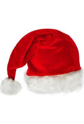 Pandoli Kadife Noel Baba Yılbaşı Şapkası