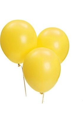 Pandoli Sarı Metalik Düz Renk Sedefli Latex Balon 10 Adet