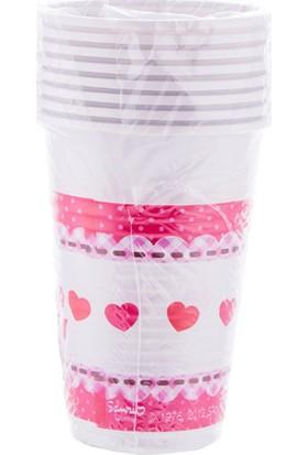 "Euro Flora Bardak ""Hello Kitty Hearts"" 7X9,5 Cm 8'li Paket"